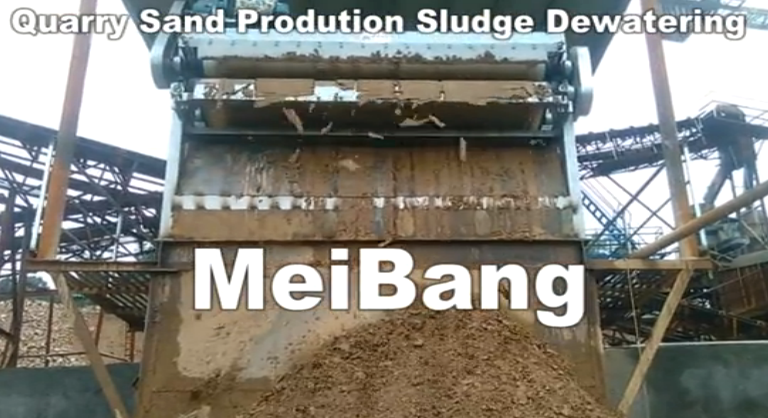 Quarry sand production sludge dewatering